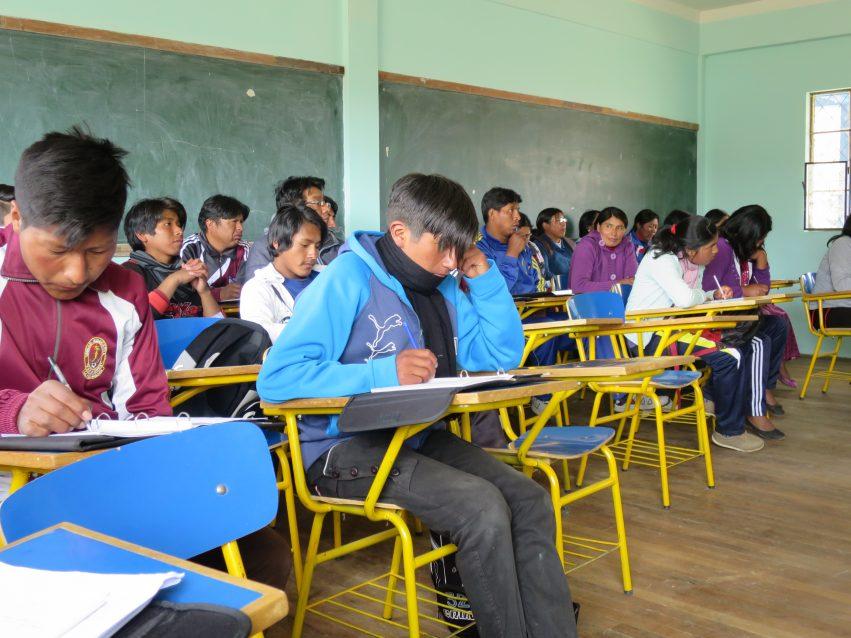 Bolivia-klasserom CEFOS EIB .