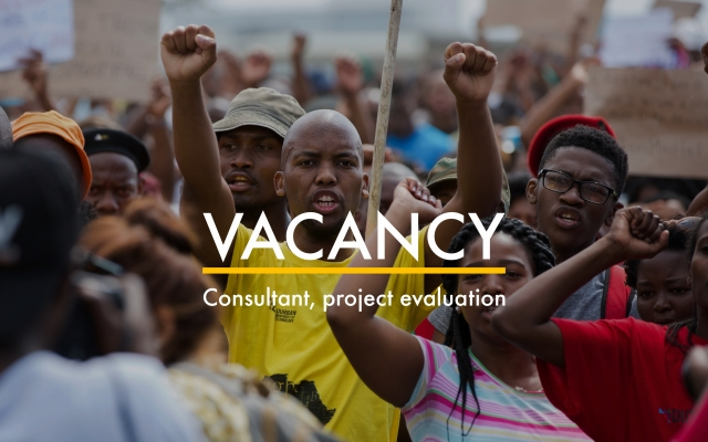 Vacancy: Consultant, project evaluation